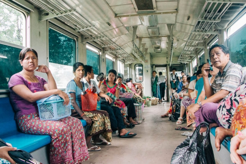 Photography on Yangon Circle Train
