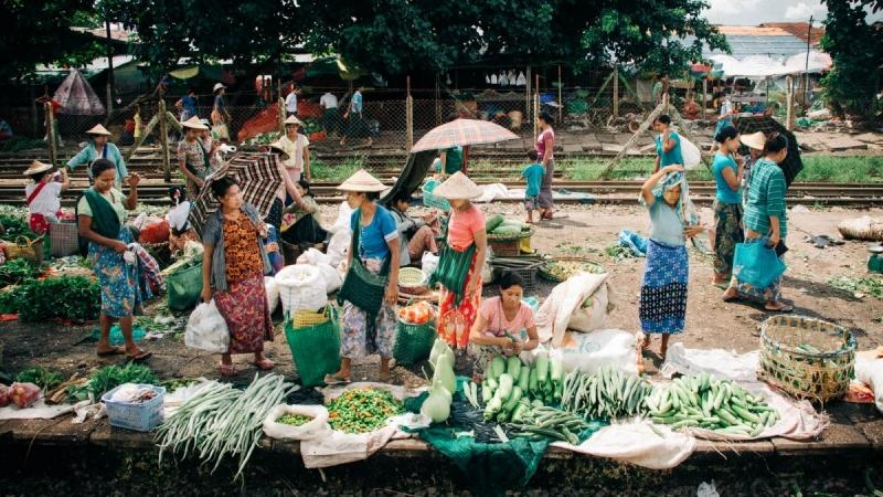 Yangon Station Markets