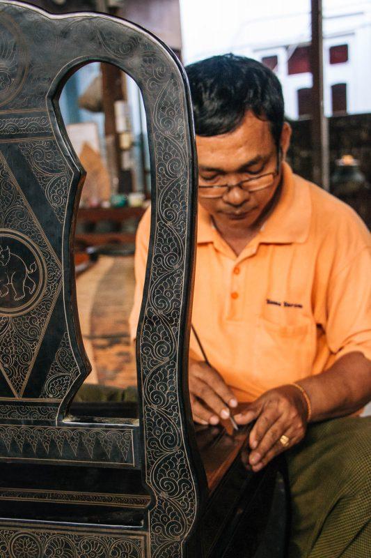 Golden Bagan Lacquerware workshop