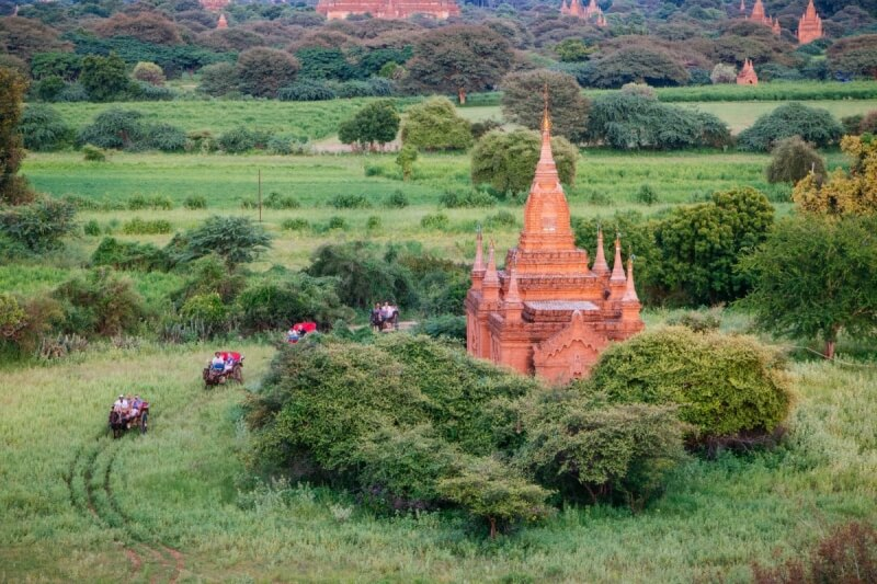 Sunset Pagoda, Myanmar