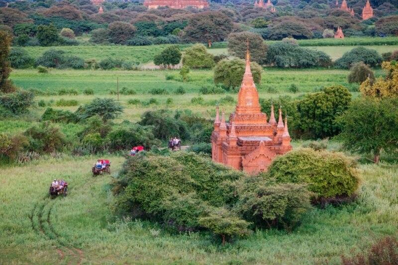 Sunset Pagoda, Myanmar