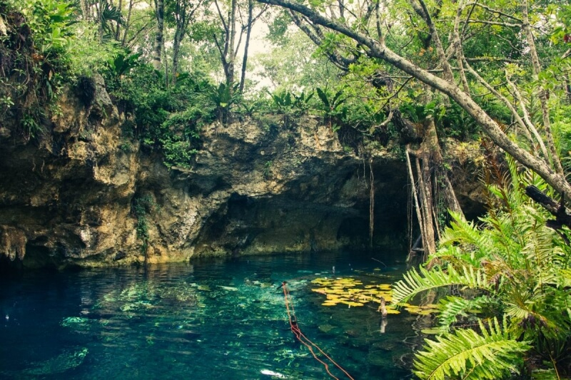 Blue waters of Gran Cenote