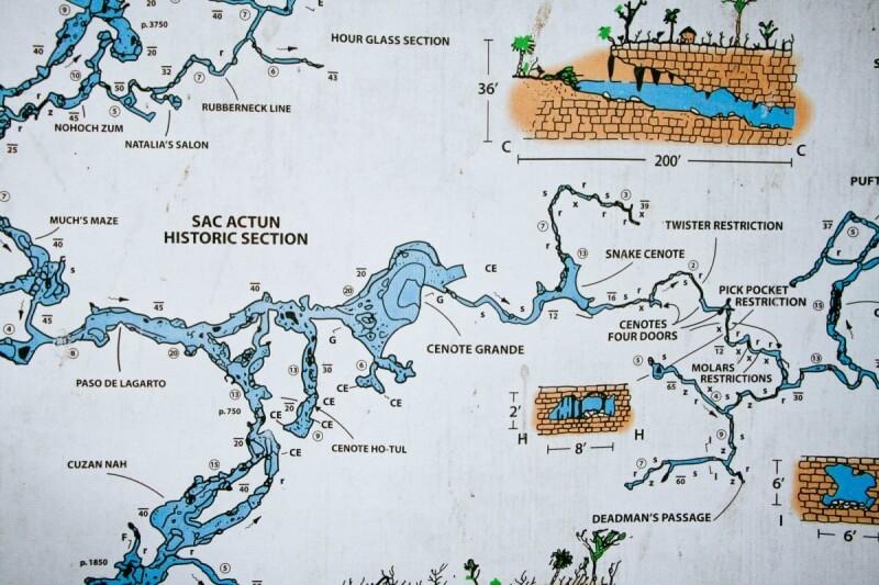 Gran Cenote Map