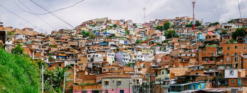 Panorama of Comuna 13 heart