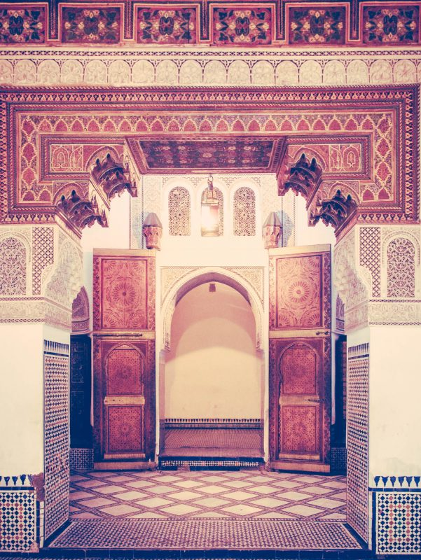 El Bahia Palace, Marrakesh, Morocco Doorway