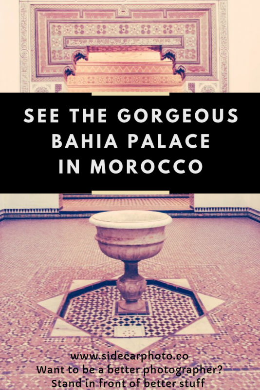Bahia Palace in Marrakesh