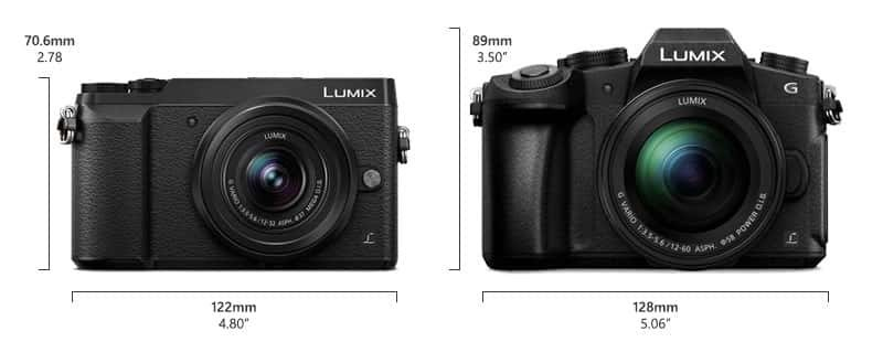 Lumix GX85 vs G85 Size Comparison