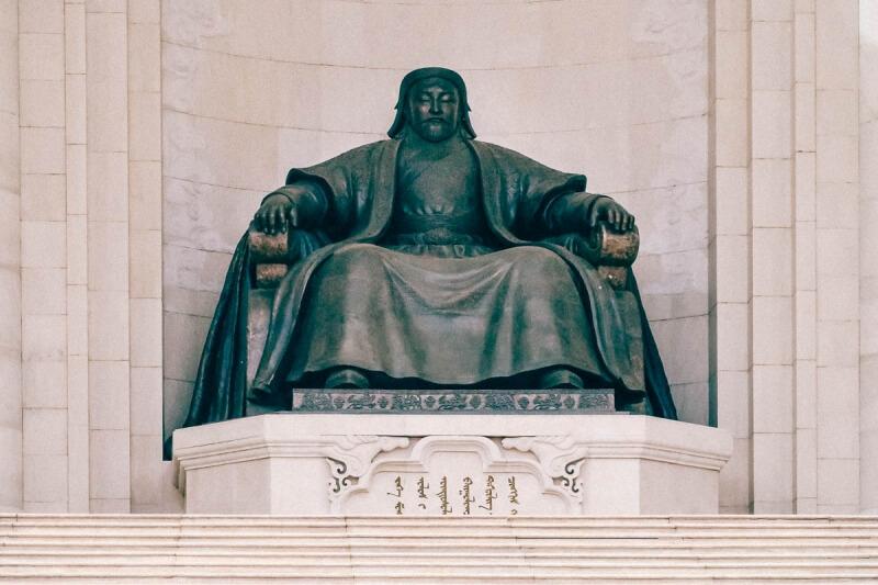 Genghis Khan in Sukhbaatar Square