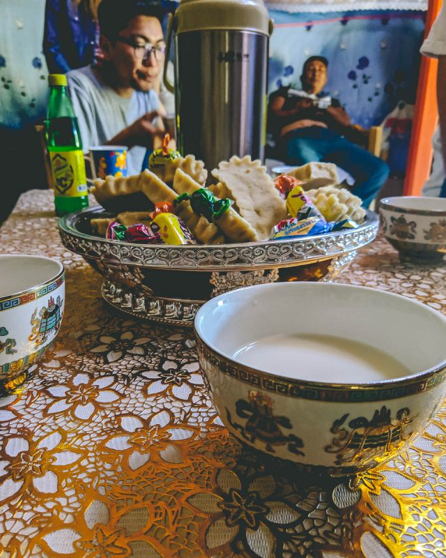 Aarul milk curd snacks with nomad family